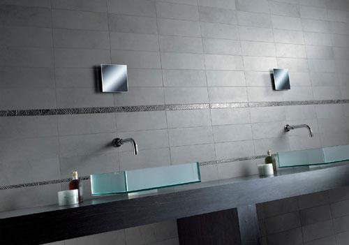 Bagni tortora mobile sospeso da bagno con specchio led piastrelle
