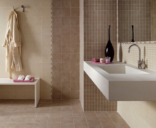 Bagno Con Mosaico Beige : Bagni beige moderni simple bagno marrone e beige moderno foto