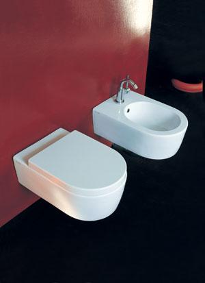 Flaminia Serie Link Sanitari Sospesi In Ceramica Wc Bidet