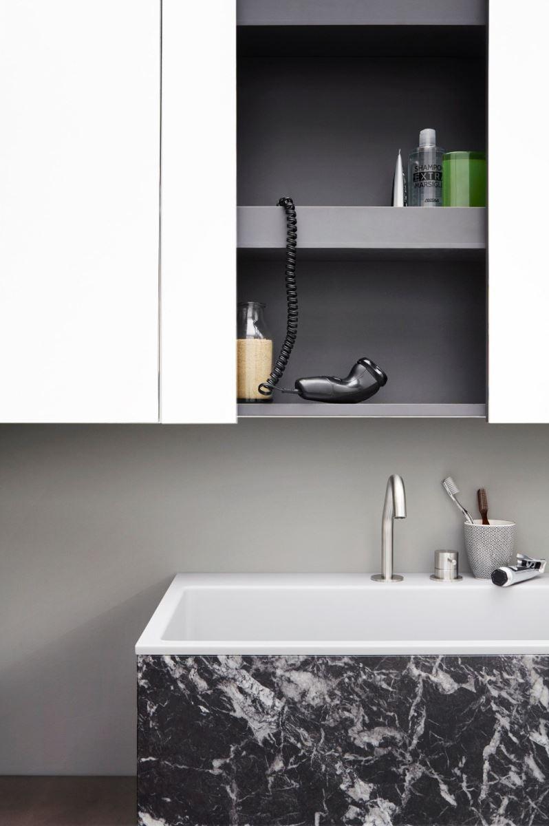 Arredo bagno r1 semplice lineare architettonica - Portaoggetti bagno ...
