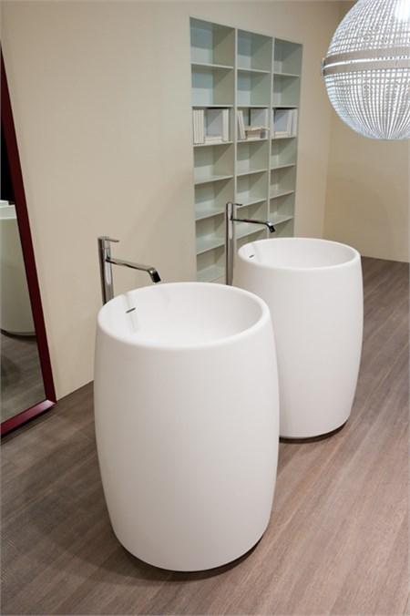 Lavabo barrel in cristalplant - Scarico lavandino bagno ...
