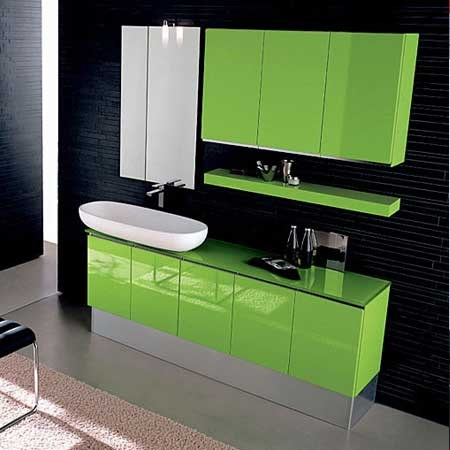 Mobile bagno Game in verde
