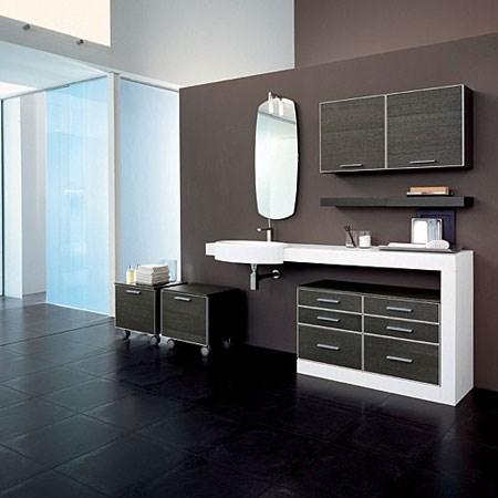 Mobile bagno link rovere grigio - Arredo bagno grigio ...