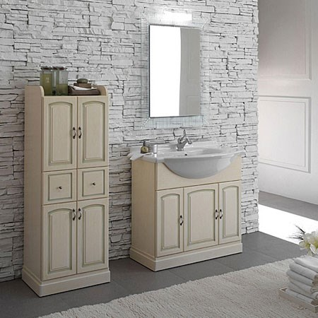 Bagno con ciotola mobile 70 cm for Mobili bagno bianchi