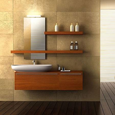 Mobile bagno teak - Mensole arredo bagno ...