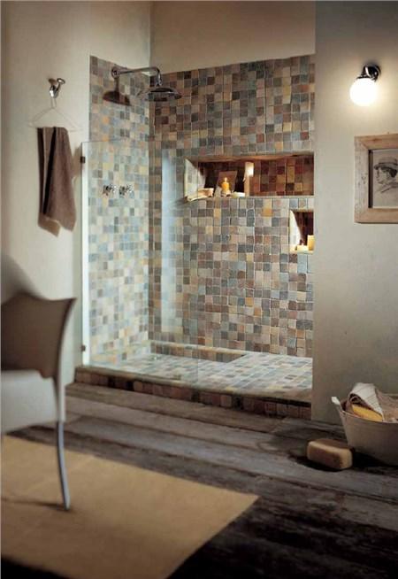 Le argille mosaico bagno - Piastrelle tipo mosaico ...