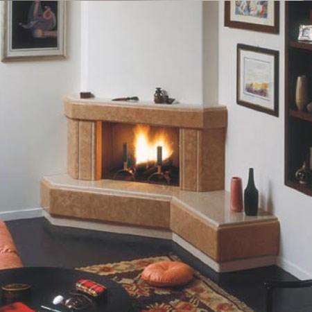 Caminetti moderni con panca design casa creativa e for Clam camini