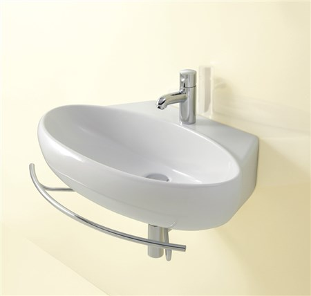 Lavabo con portasciugamani boiserie in ceramica per bagno - Portasalviette per bagno ...