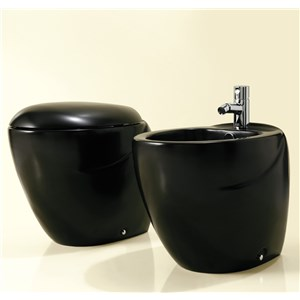 vaso e bidet in nero dream