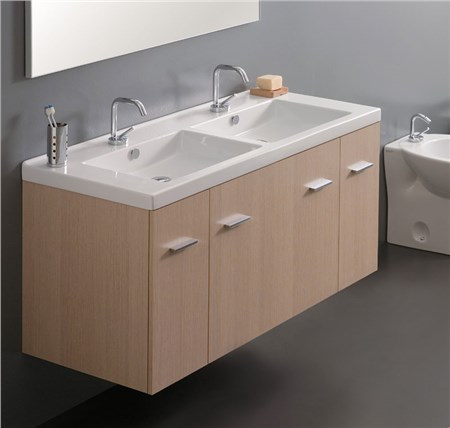 Mobile sospeso 120 cm 2 vasche for Mobile bagno due vasche