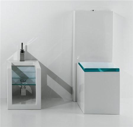 Vaso monoblocco e bidet glass for Water bidet due in uno