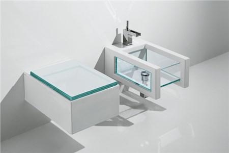 Sanitari bagno in vetro glass