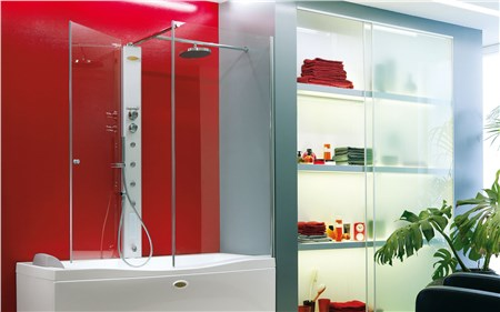 Cabina doccia con vasca 170x70 link