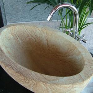 Lavabo in pietra bagno conchiglia - Lavabo in pietra per bagno ...
