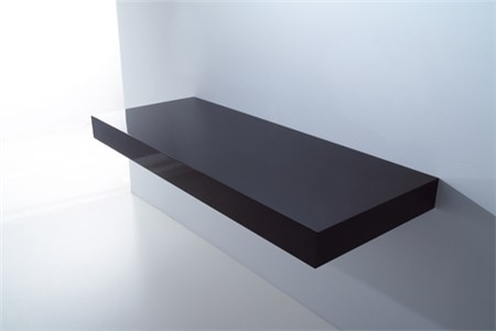 Mensola in legno nero laccato for Mensola laccata bianca