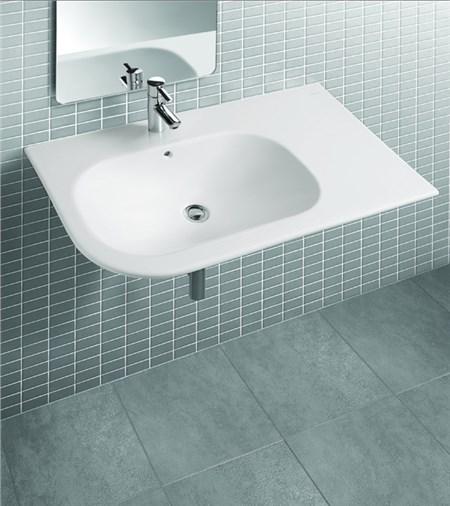 lavabo sospeso moon asimmetrico : Lavabo asimmetrico sospeso cm 90 monoforo con piano a destra ...