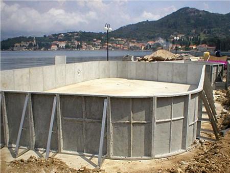 Piscina in kit in cemento fibrorinforzato - Piscina in cemento ...