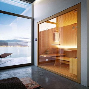 glass sauna kit
