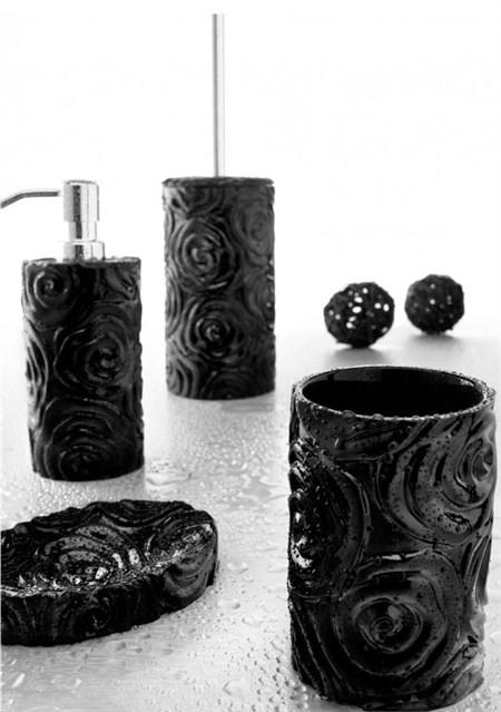Set accessori baccarat nero for Accessori bagno neri