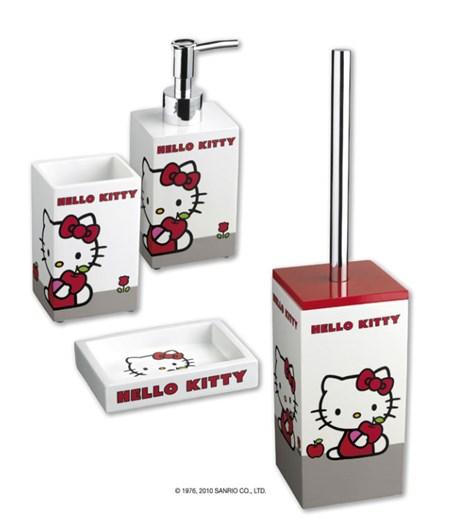 Accessori Bagno Hello Kitty.Set Accessori Bagno Hello Kitty Apple