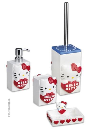 Accessori Bagno Hello Kitty.Set Accessori Bagno Hello Kitty Classic
