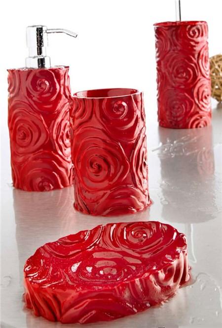 Accessori bagno baccarat rosso for Bagno rosso