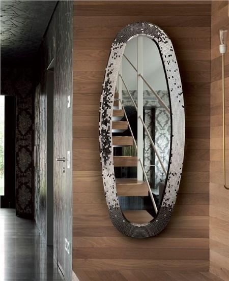 Specchio ovale con cornice butterfly - Specchio ovale per bagno ...