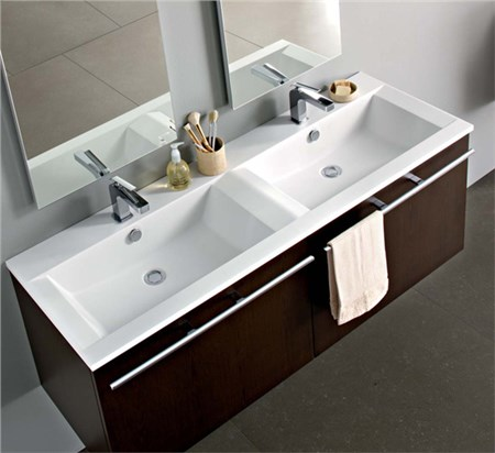 Mobile 48 over x2 148 cm for Mobile bagno due lavabi