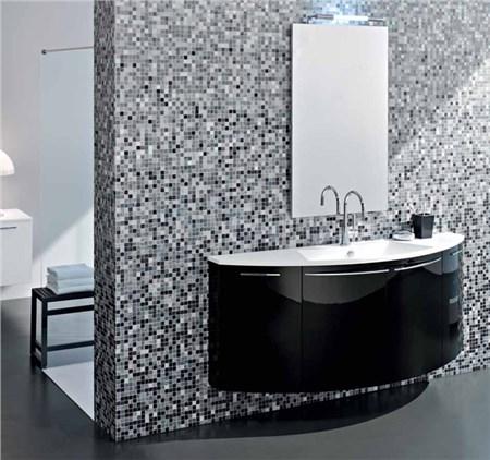 Mobile vela l 160 cm nero lucido - Mobile bagno nero lucido ...