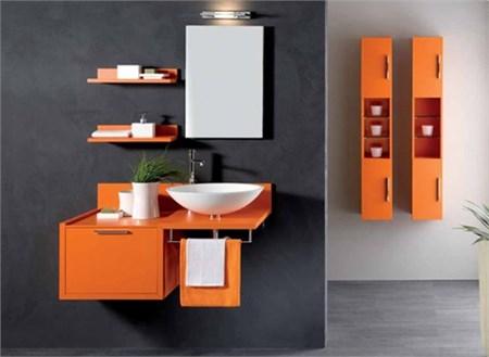 Mobile bagno zig zag papaia - Mobili colorati design ...