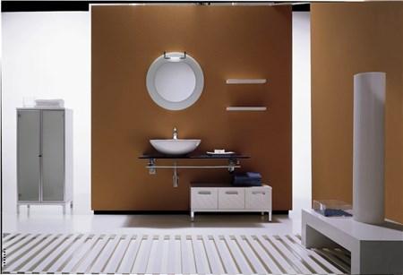 Mobile bagno acquamarina composizione