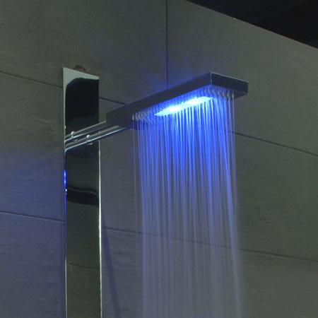 Colonna doccia led colonna doccia prisma termostatico - Doccia led cromoterapia ...