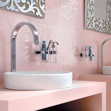 Collezione for love rose rosa - Piastrelle bagno rosse ...