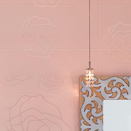 Bagno con rivestimento rosa for Piastrelle bagno 20x25 rosa