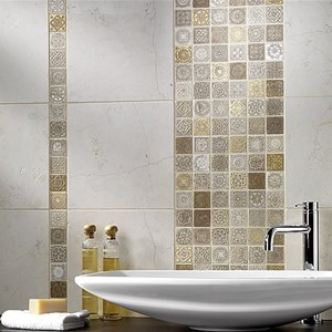 Mosaico Metal Full Decor Beige