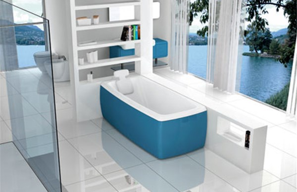Vasca Da Bagno Blu Bleu : Vasca blubleo asimmetrica prezzo outlet vicenza fratelli pellizzari