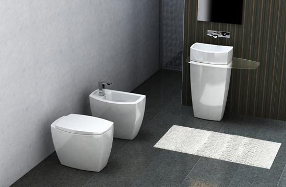 Cersaie 2008 serie tiber una nuova architettura monolitica per l ambiente bagno - Roca piastrelle bagno ...