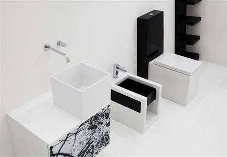 Box lavabo modulare in crystal tech: forme futuristiche