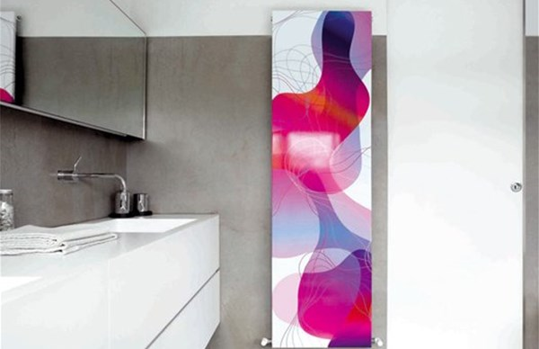 Radiatori Caleido by CO.GE.FIN: opere d'arte in bagno