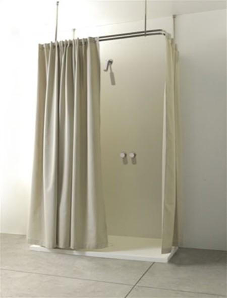 Una tenda in lino per il bagno da colacril - Tende per doccia in lino ...
