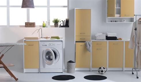 Domestica l 39 arredo lavanderia pieno di colore - Mobili per lavanderia domestica ...