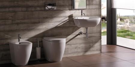 sanitari ceramica globo bianco e nero per un bagno moderno