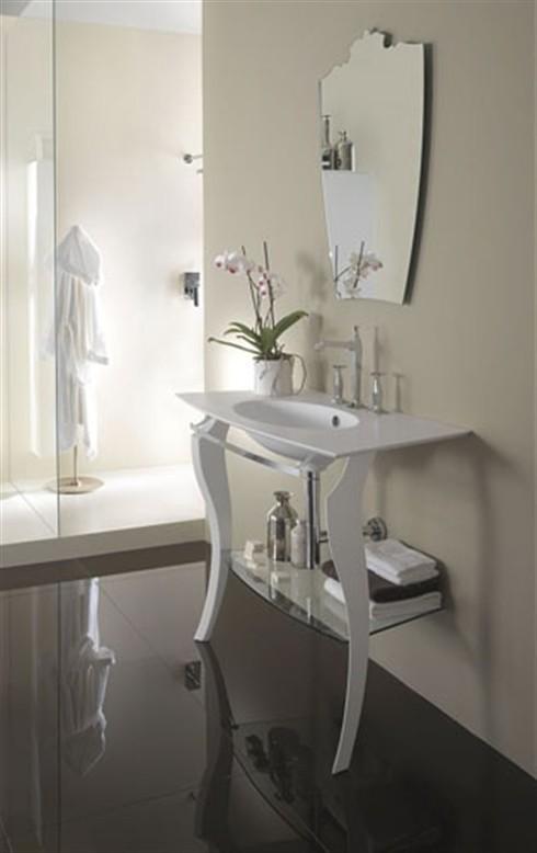 Mobili bagno consolle per lavabo amel argento - Mobili bagno contemporanei ...