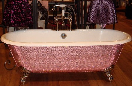 Lusso estremo vasca da bagno tempestata di swarovski for Arredo giardino iper