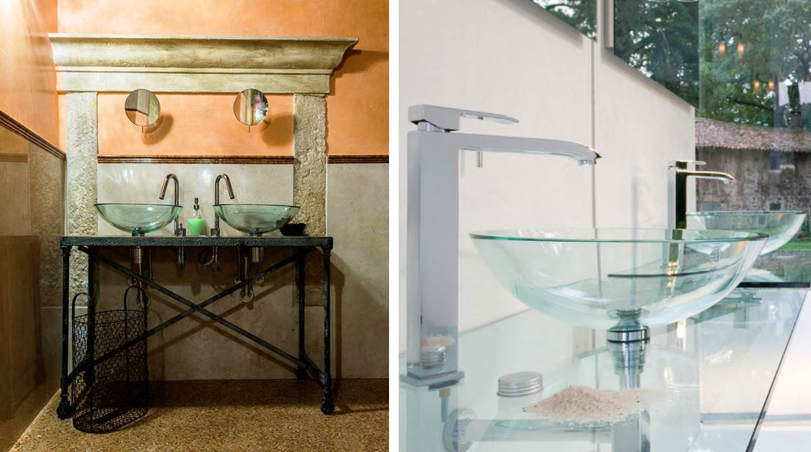 Lavabi Bagno In Vetro Colorato.Lavabo In Vetro