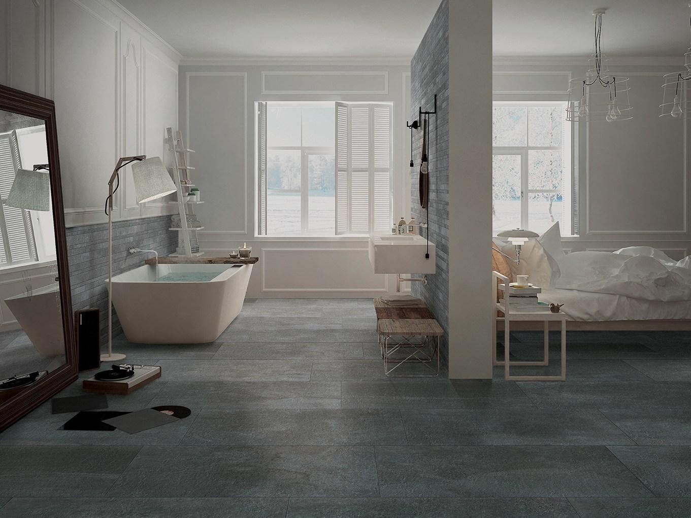 Piastrelle Moderne Per Interni gres porcellanato effetto pietra
