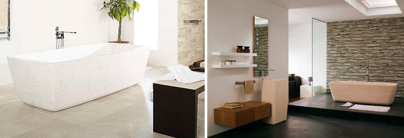 Vasca bagno in pietra